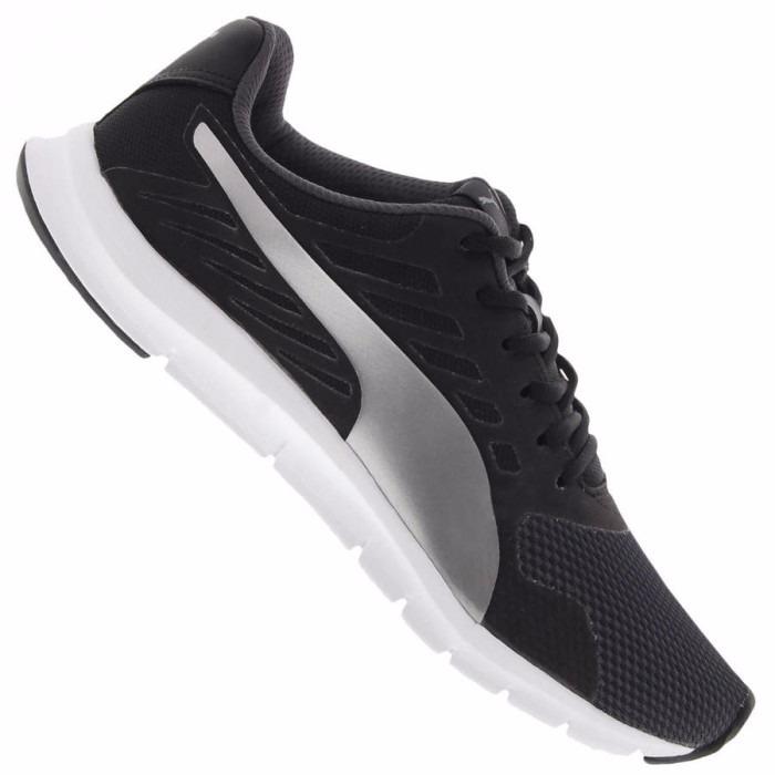 6d03193283b tênis puma flexracer masculino preto e prata. Carregando zoom... tênis puma  masculino