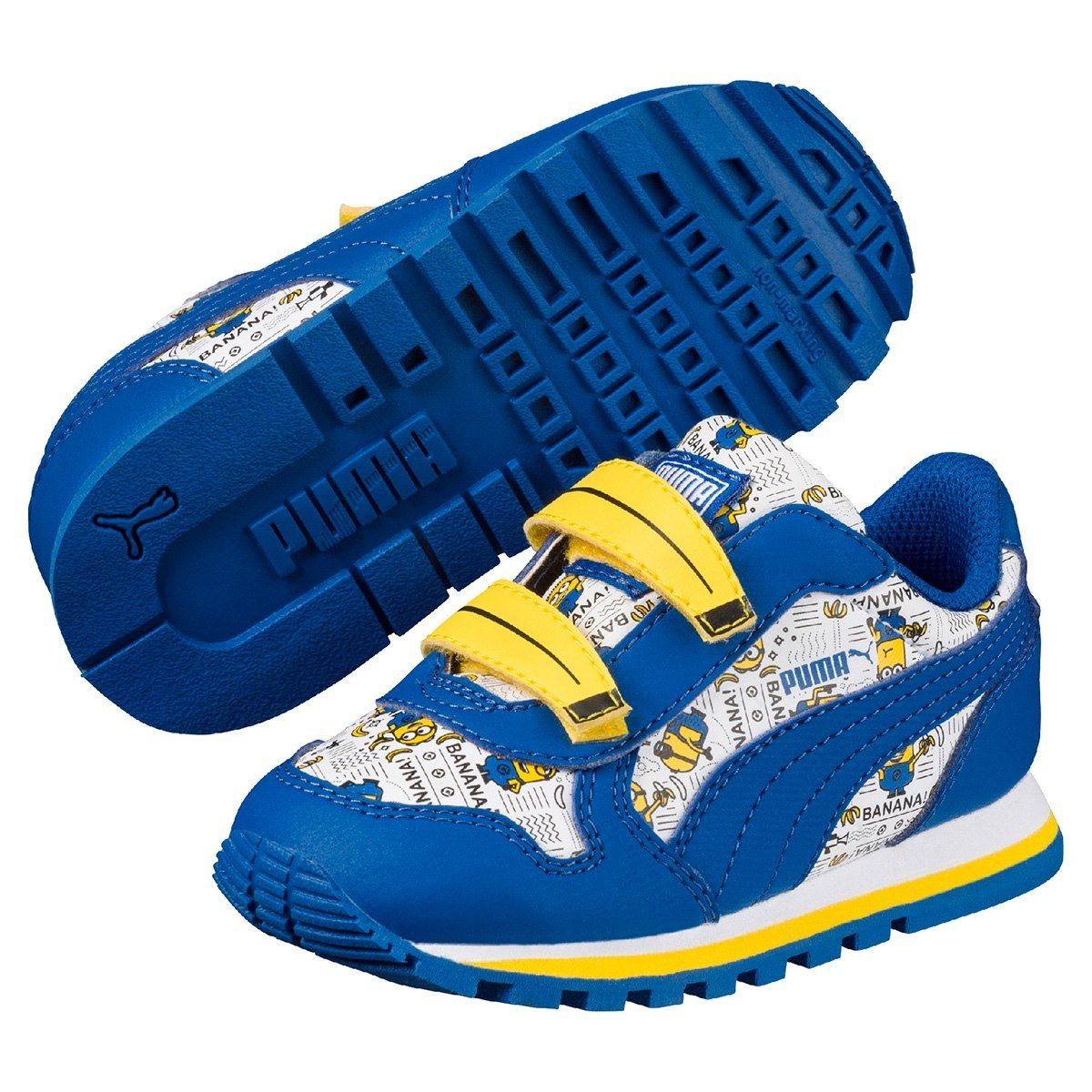 ... 593e9656997 tênis puma minions st runner infantil menino azul e  amarelo. Carregando zoom. c6d21c118bfb1