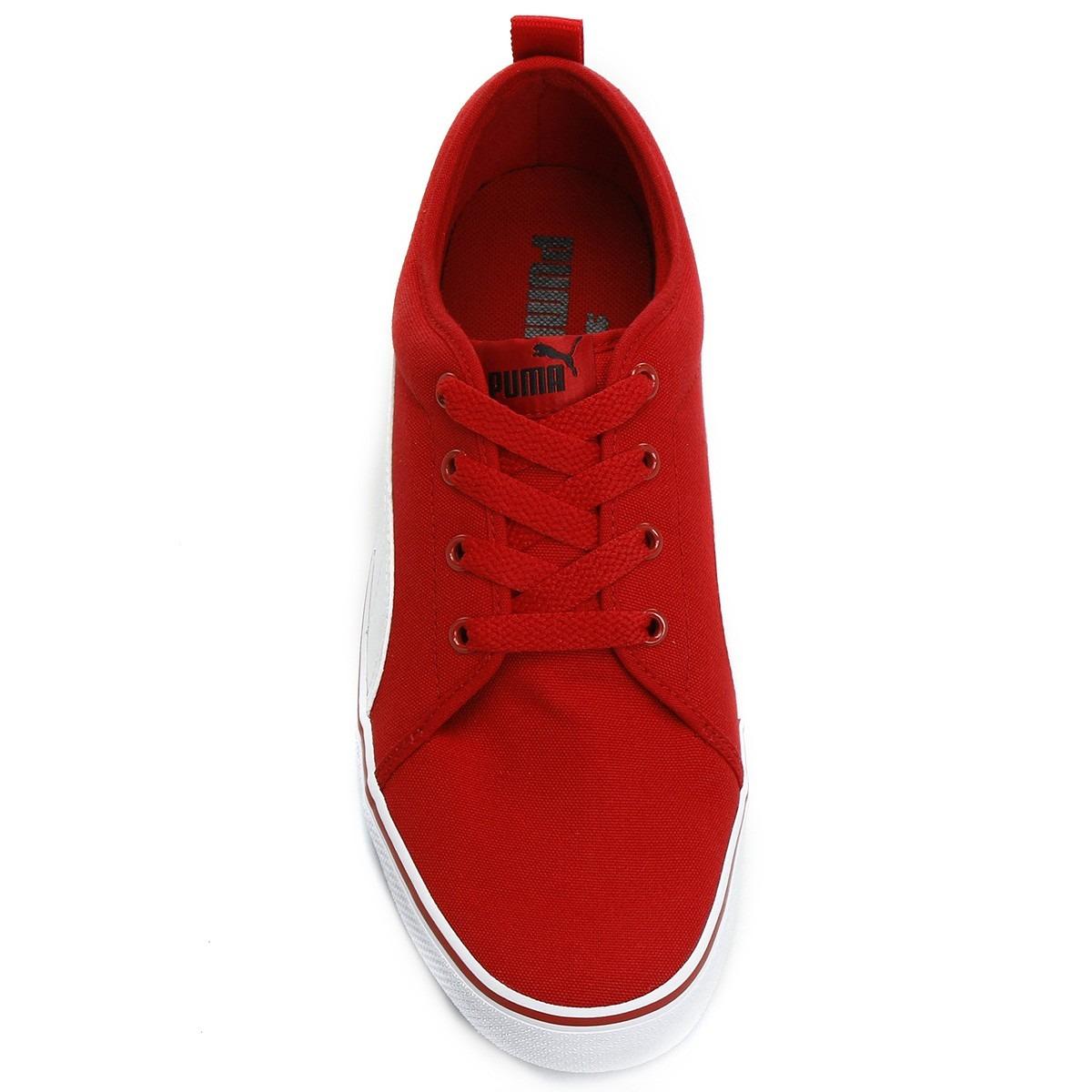 488caf2b Tênis Puma S Street Vulc Cv 43 Vermelho Skate Casual - R$ 109,00 em ...