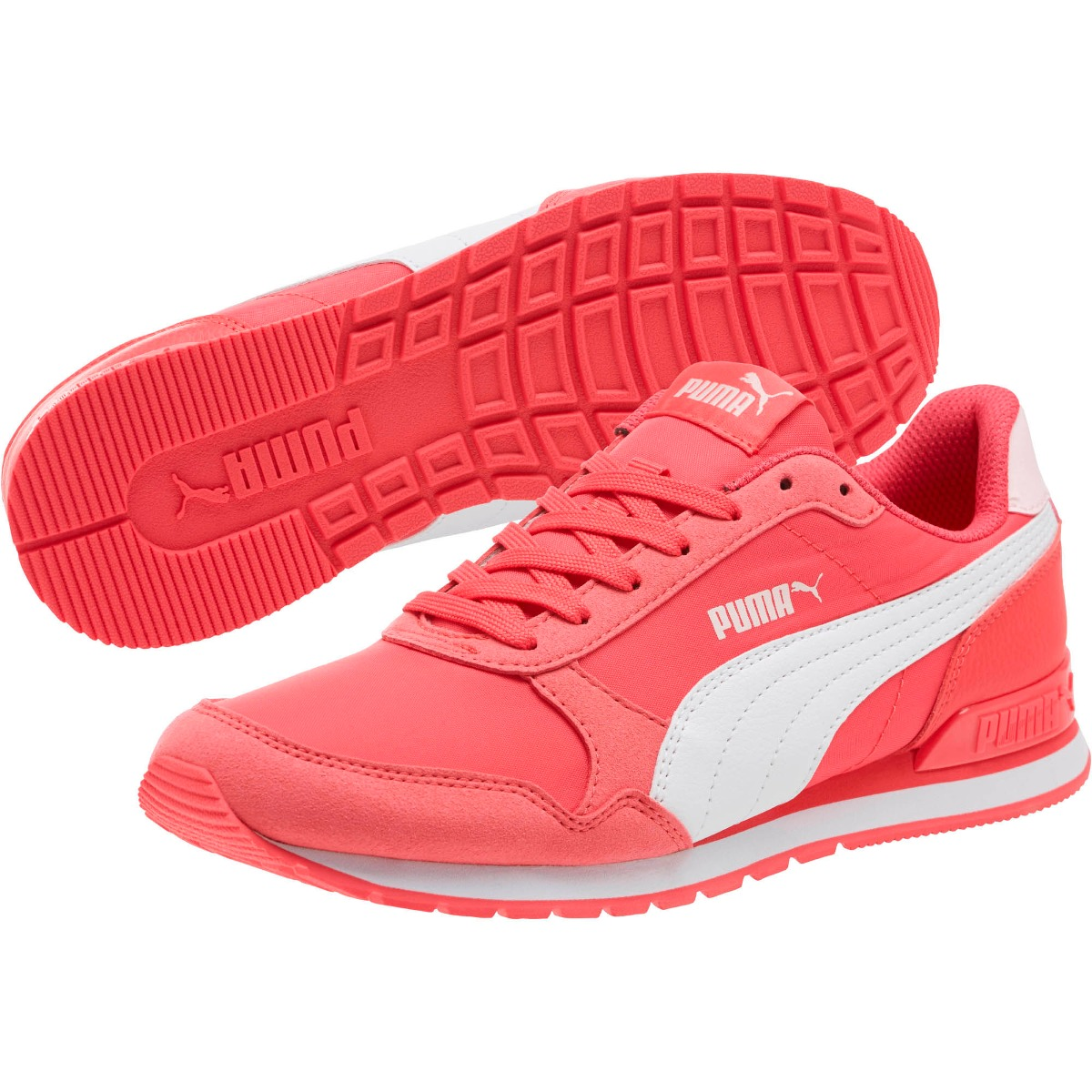tênis puma st runner v2 nl pink branco feminino junior. Carregando zoom. 8d80501fce198