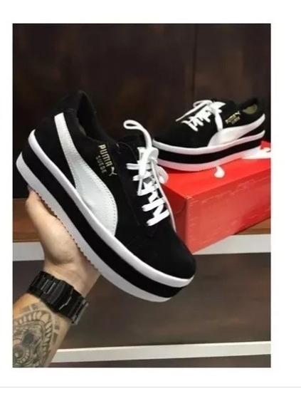 best sneakers a82bc 3604c Tênis Puma Suede Feminino Plataforma Promoção Black Friday!!