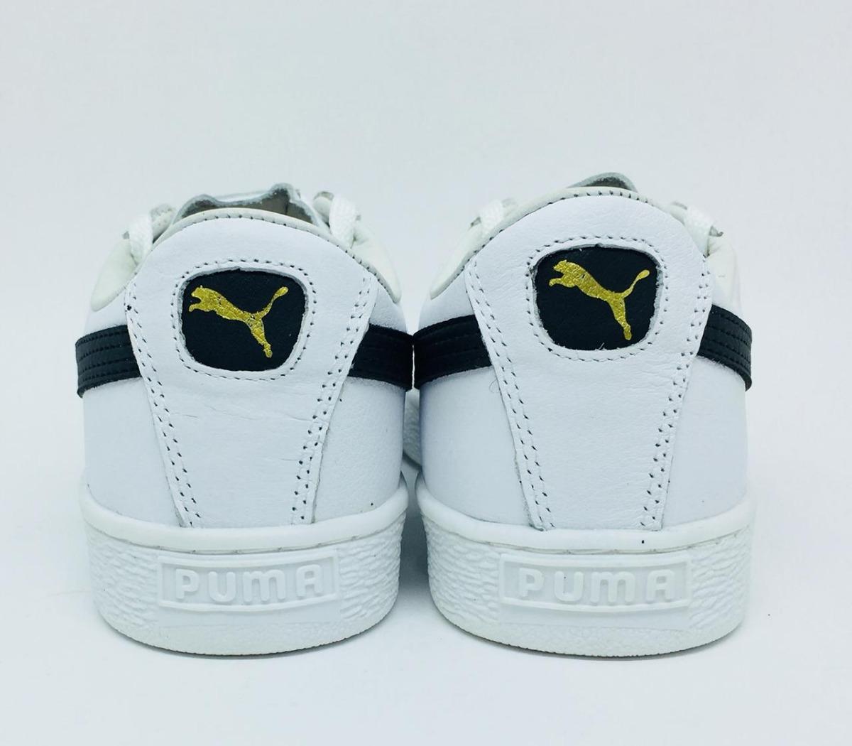 e40688ecb0e tênis puma suede -lançamento -branco com preto - masculino. Carregando zoom.