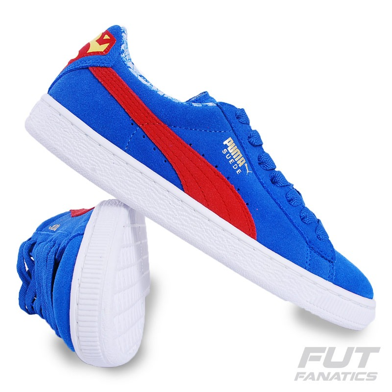 reputable site eec4d b3870 Tênis Puma Suede Superman Juvenil - Futfanatics