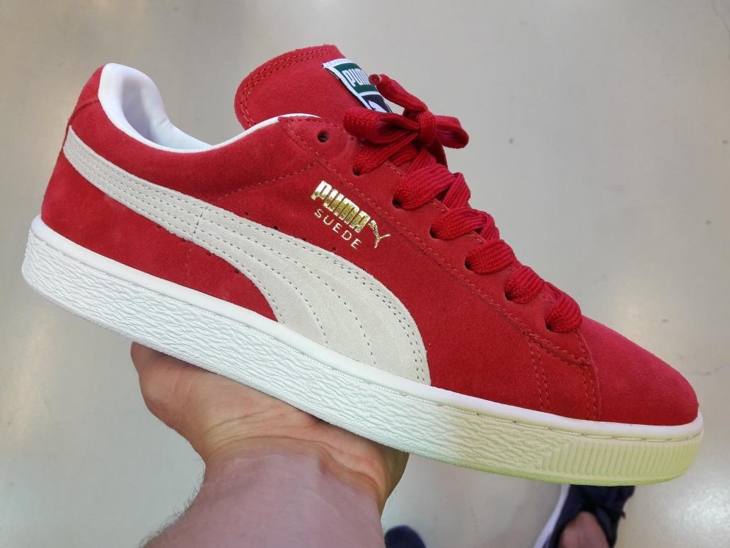 ce70bf8080 tênis puma suede vermelho. Carregando zoom.