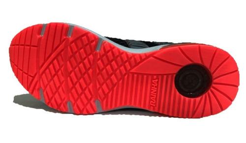 tênis rainha system neo - preto/ch/coral - fem