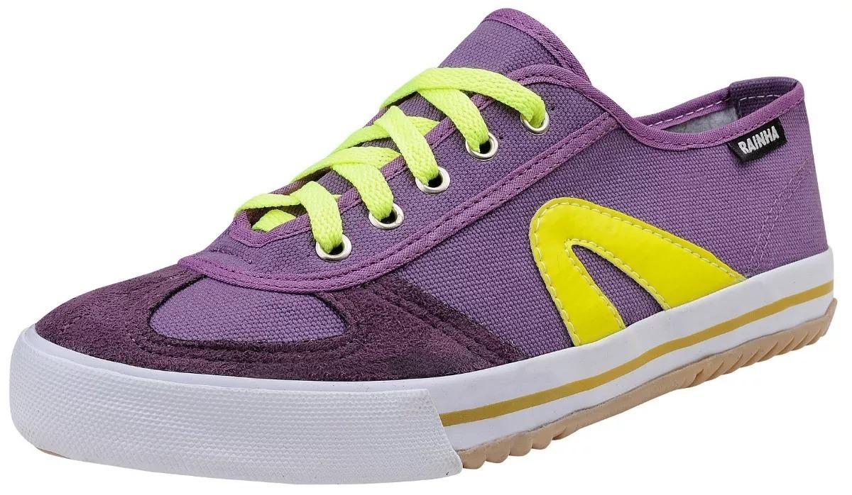 655af40dfc6 tênis rainha vôlei vl2500 futsal capoeira roxo com amarelo. Carregando zoom.