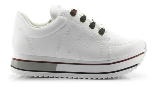 tênis ramarim jogging flatform feminino branco 1971101