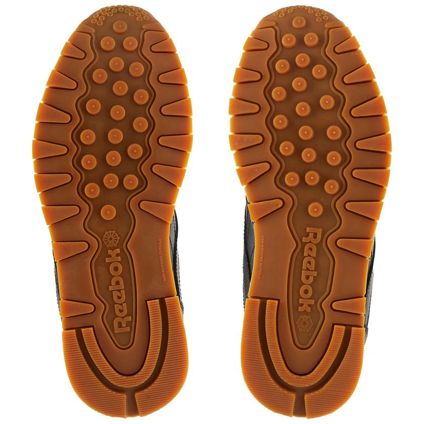 tênis reebok classic leather black gum frete grátis. Carregando zoom. 6f7d3ffa3f6fd