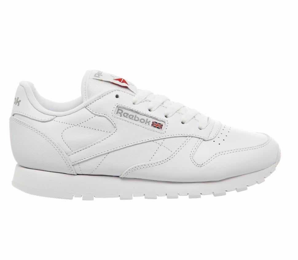 ac12c128d5a03 Tênis Reebok Classic Leather Branco Original 34 A 38 39 - R  299