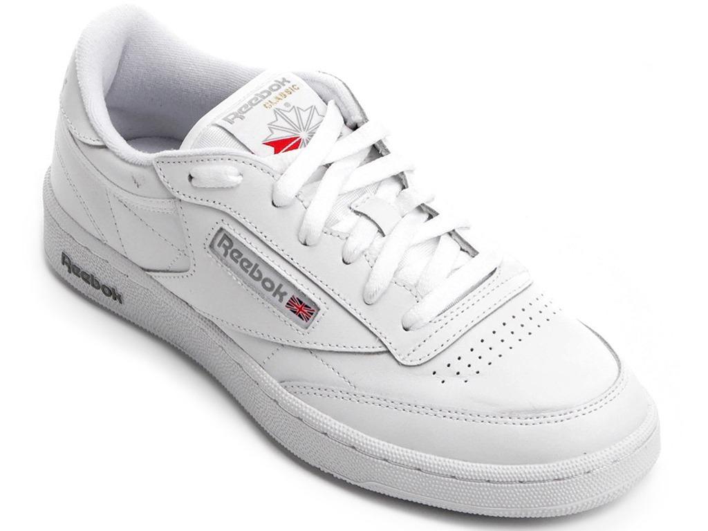 bfb92a74b45 tênis reebok club c 85 low classic leather white grey og. Carregando zoom.