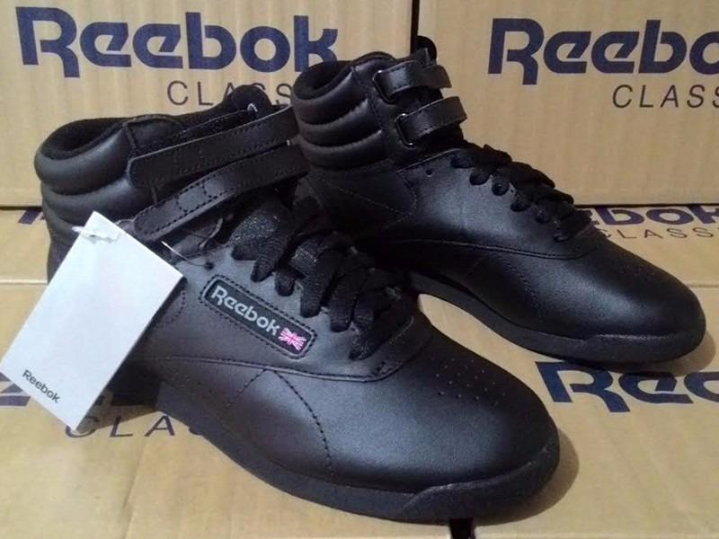 344d2b5345b tênis reebok freestyle high top black sneaker retro preto. Carregando zoom.