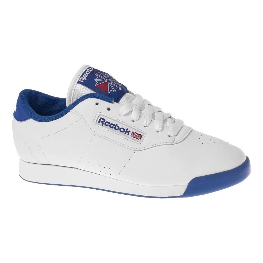 tênis reebok princess feminino branco azul. Carregando zoom. 0ebd80e4baa61