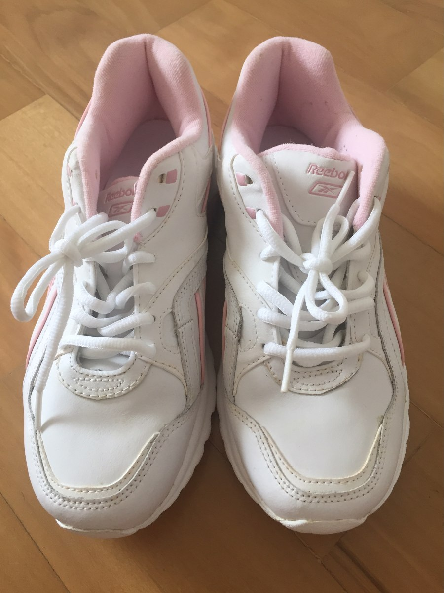 30fc8327cba tênis reebok tamanho 39 feminino branco rosa. Carregando zoom.