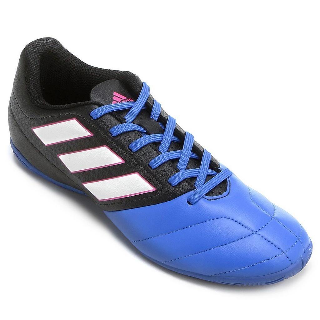 2435083b29953 tênis salão adidas ace 17.4 azul preto. Carregando zoom.
