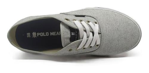 tênis sapatenis casual polo wear lona oferta original !