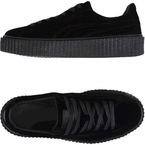 tênis sapatenis feminino preto creper casual ft. original