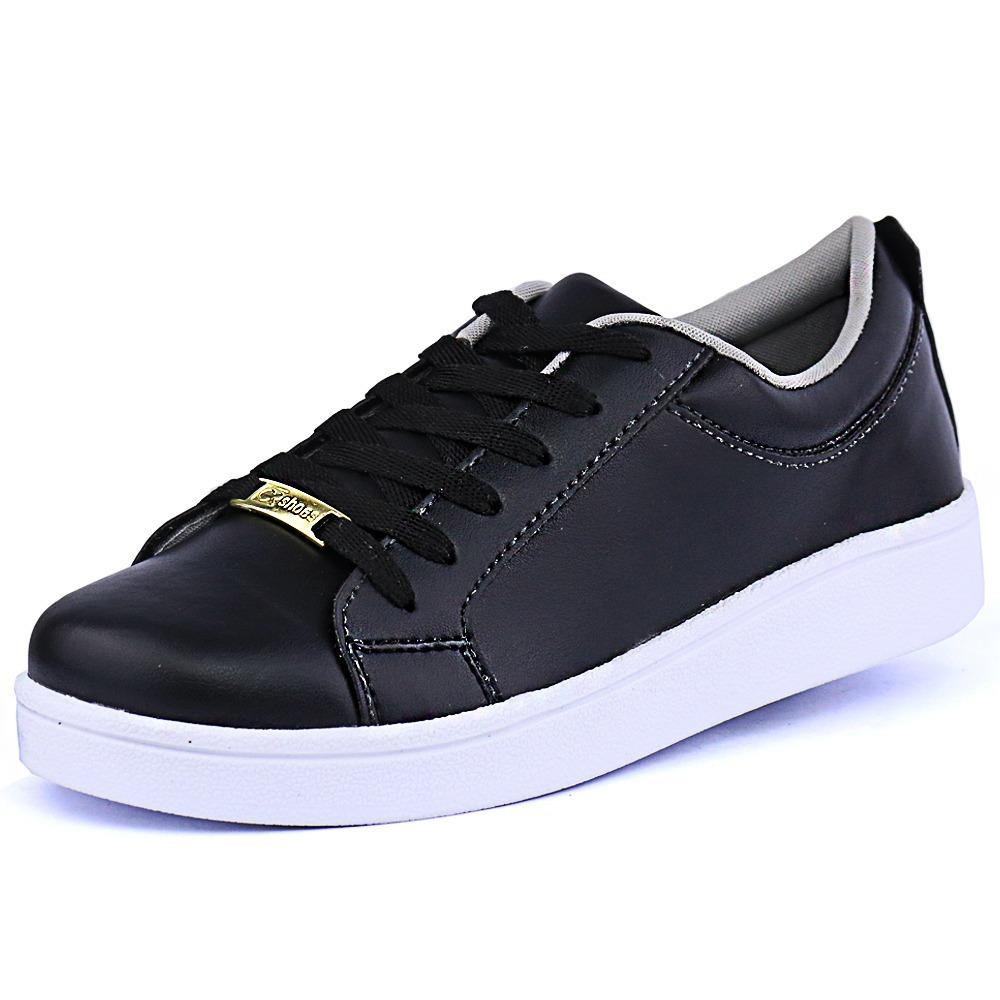 ba894a85ce tênis sapatenis feminino preto super leve e confortável. Carregando zoom.