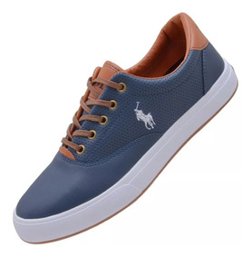 077574922b Sapatenis Polo Royal Club Couro - Tênis Urbano Azul com o Melhores ...