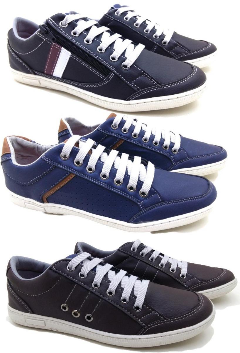 24d62f491 tênis sapatenis masculino sapato casual kit 3 pares mocassim. Carregando  zoom.