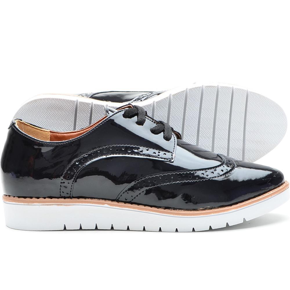 1eea73e6004 tênis sapatenis oxford feminino metalizado-lançamento preto. Carregando zoom .