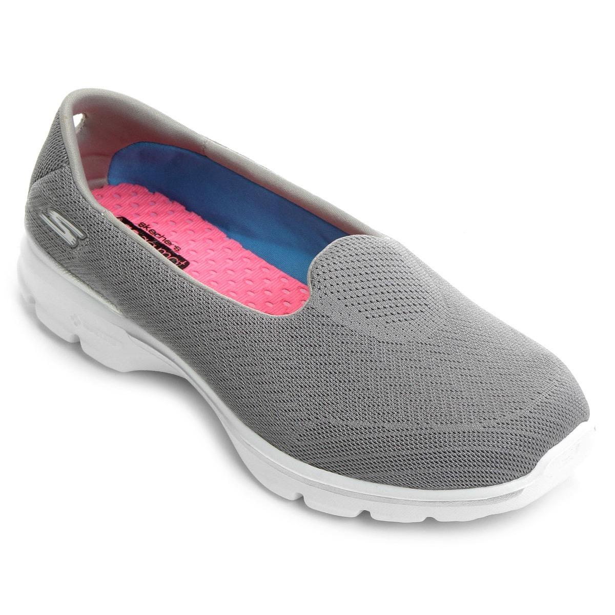 48ded6277 tênis sapatilha skechers go walk 3 insight cinza feminino. Carregando zoom.