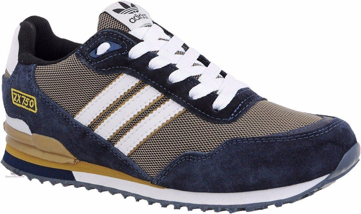 9bfb2e056 tênis sapatênis adidas zx750 azul - dourado. Carregando zoom.