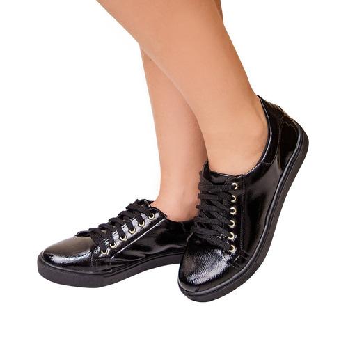 tênis sapatênis baixo novo feminino verniz