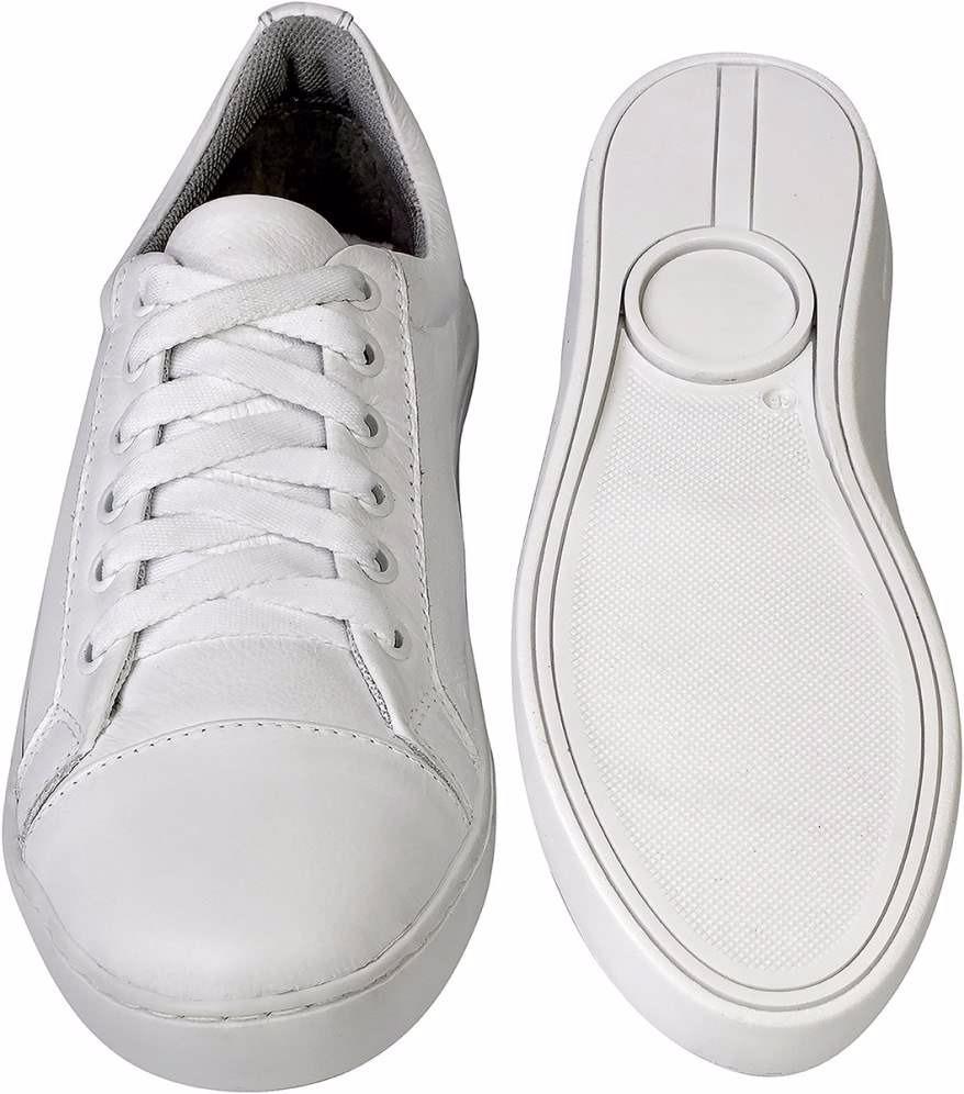 0cced9d0e0 tênis sapatênis feminino branco couro legítimo enfermeira. Carregando zoom.