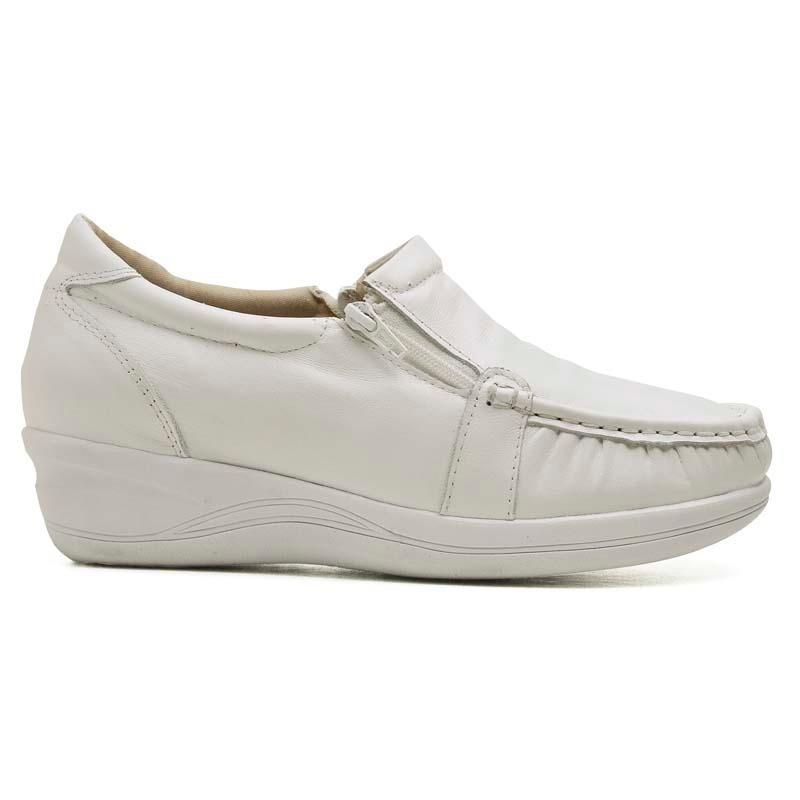 e37b401ed6 tênis sapato feminino enfermagem anti stress couro branco. Carregando zoom.