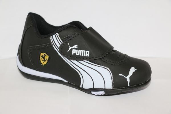 f29f8d7e76 Tênis Sapato Puma Ferrari Criança Infantil Menino Preto - R$ 59,00 ...