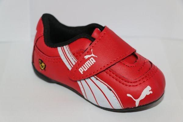 0c512b14e3 Tênis Sapato Puma Ferrari Criança Menino Bebê Vermelho - R$ 53,00 em ...