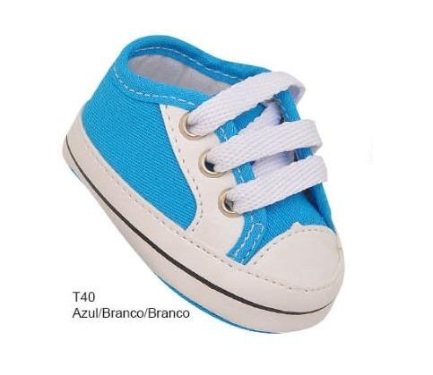 4b76c522c7 Tênis Sapato Sapatinho Bebe Menino Branco Azul All Star 002 - R  29 ...