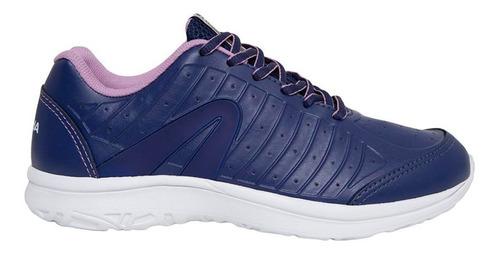tênis set marinho/lilas - rainha