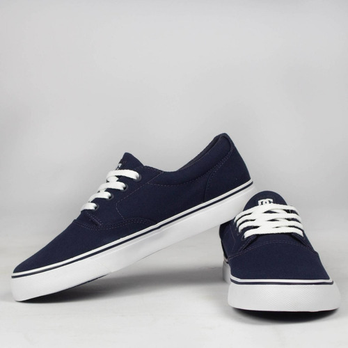 tênis skate dc shoes new flash 2 tx navy/white original
