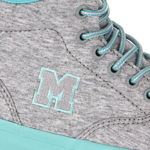 tênis skate feminino mary jane high school moleton - cinza
