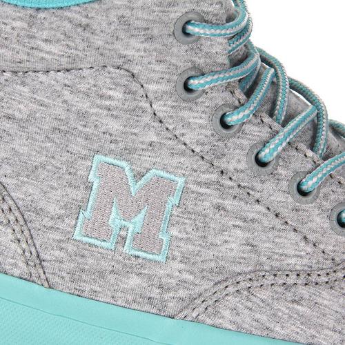 tênis skate feminino mary jane high school moleton - cinza
