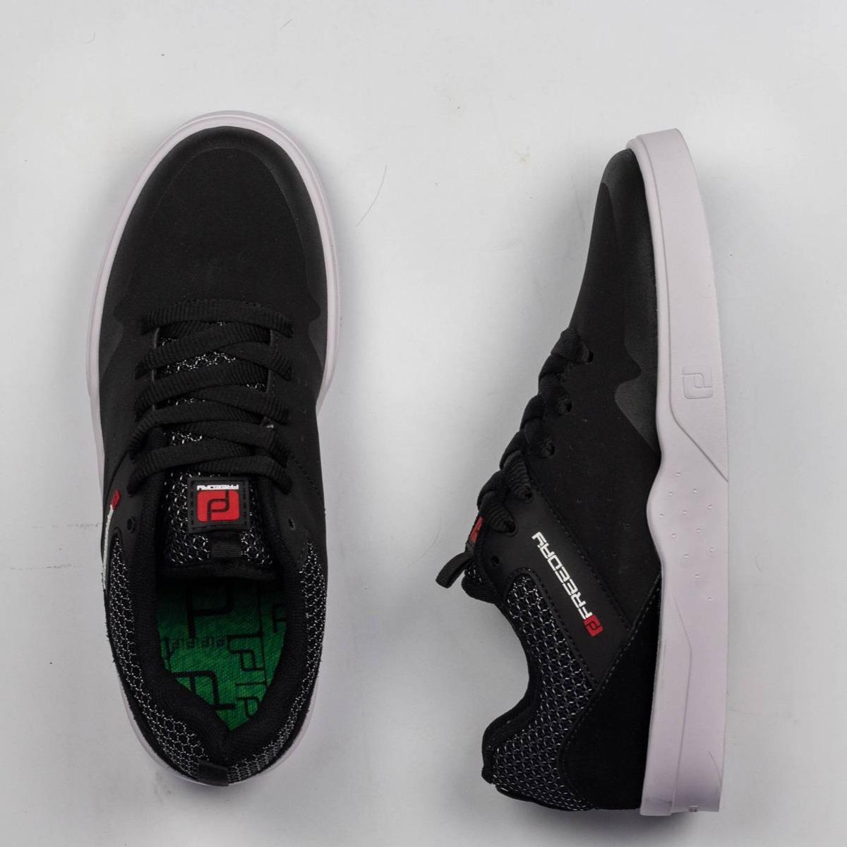 15ec6008bd tênis skate freeday definity preto branco vermelho. Carregando zoom.