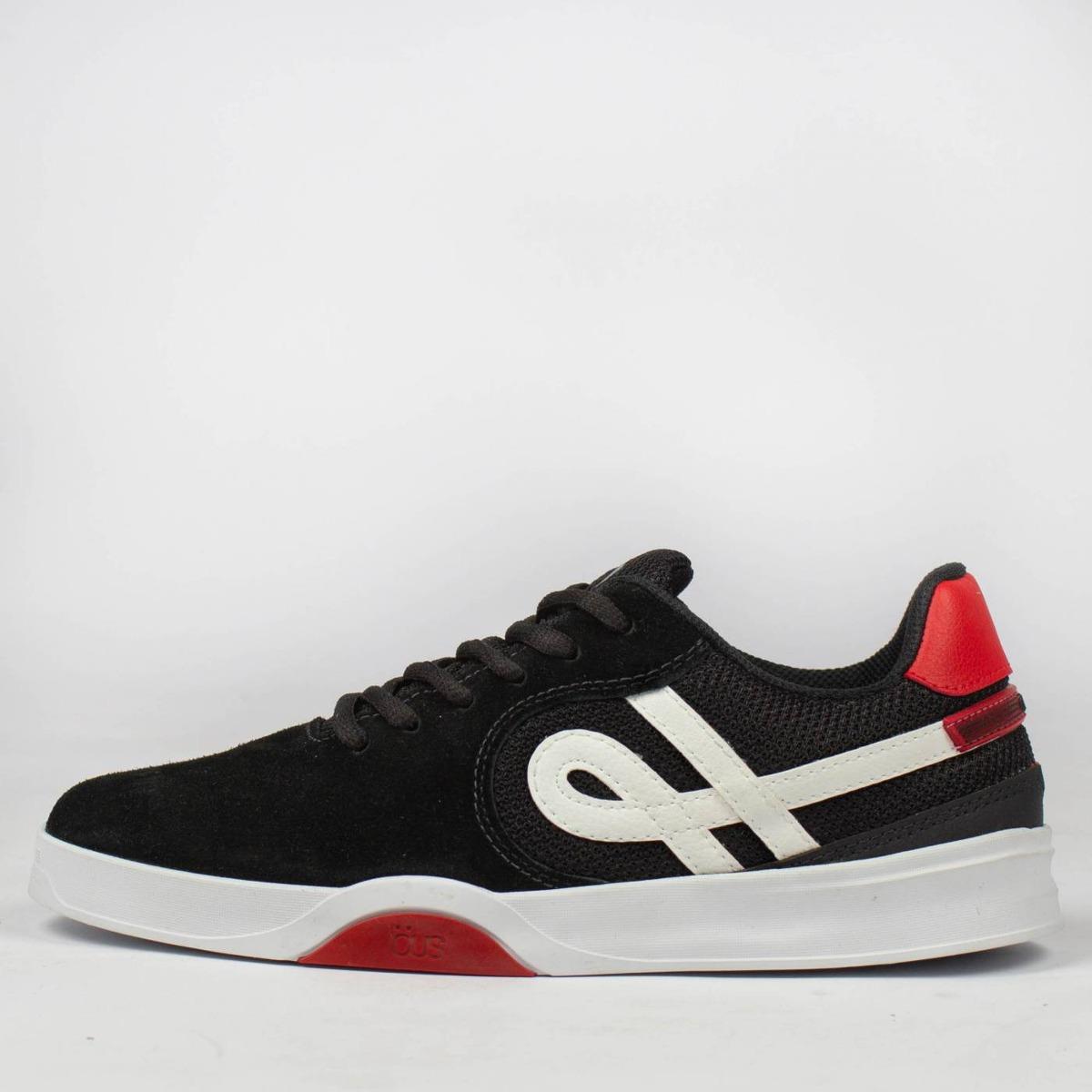 9eeb5fb1db tênis skate öus imigrante essencial preto vermelho original. Carregando  zoom.