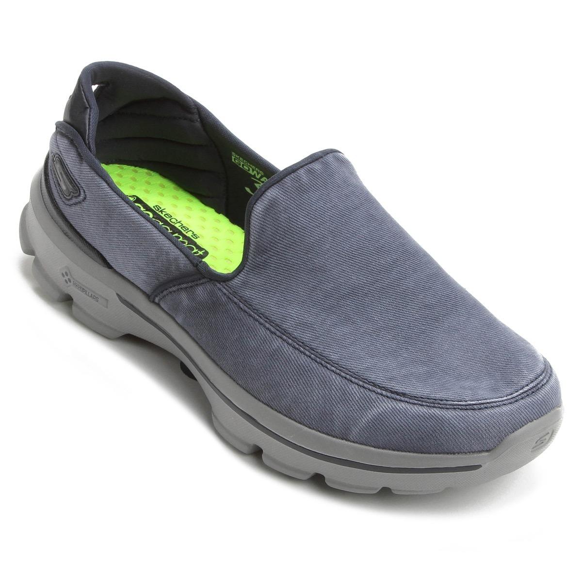 596f3626b64 tênis skechers go walk 3 unwind masculino caminhada azul. Carregando zoom.