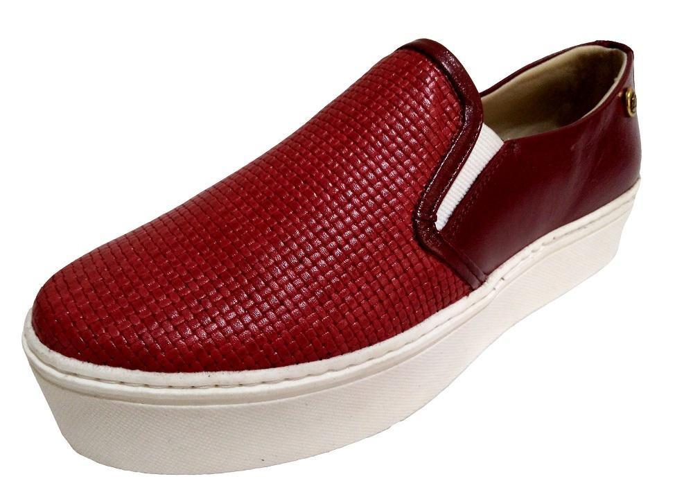 c43aa4373c Tênis Slip On Flatform Feminino Quality Shoes Couro - R  140