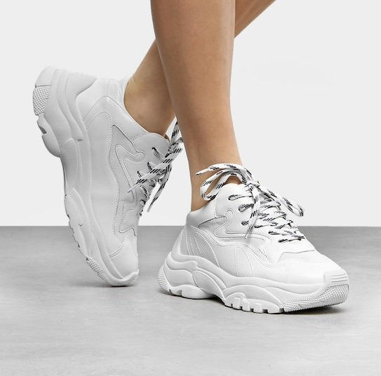 05fb302d026 Tênis Sneaker Chunky Recortes Feminino - Branco 2019 Cod 003 - R ...