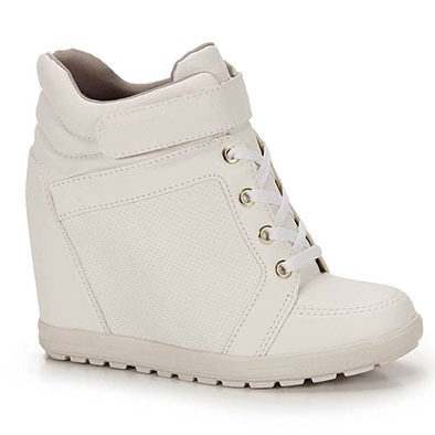 b86b227b8f4 Tênis Sneaker Feminino Brenda Lee - Branco - R  99