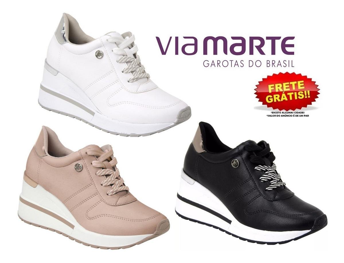 95054031f Tênis Sneaker Via Marte 19-3302 Feminino Original - R$ 149,49 em ...
