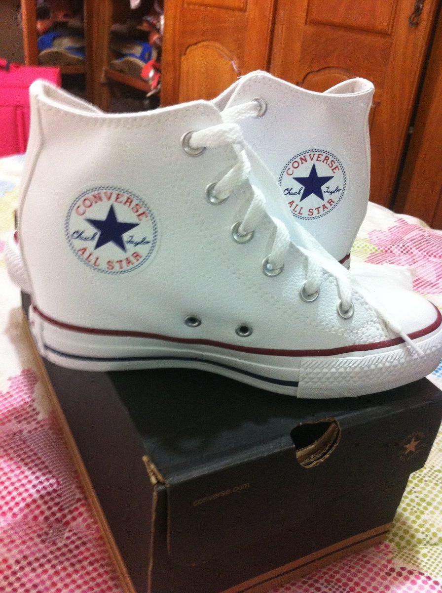 tênis sneakers converse all star branco tamanho 36 em couro. Carregando  zoom. 298f46e475367