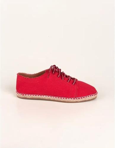 tênis solado corda pesponto - vermelho