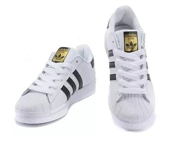 70b4f42cc Tênis Superstar adidas Branco-preto Foundation Original - R$ 220,00 ...