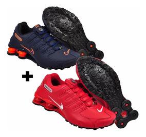7221d68ab8 Pittol Calcados Masculino Botas Nike Shox - Tênis Training Azul com ...