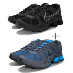 88c3c525933 Tênis Nike Shox R4 Cromado Amarelo E Azul Frete Grátis!!! - Tênis no ...
