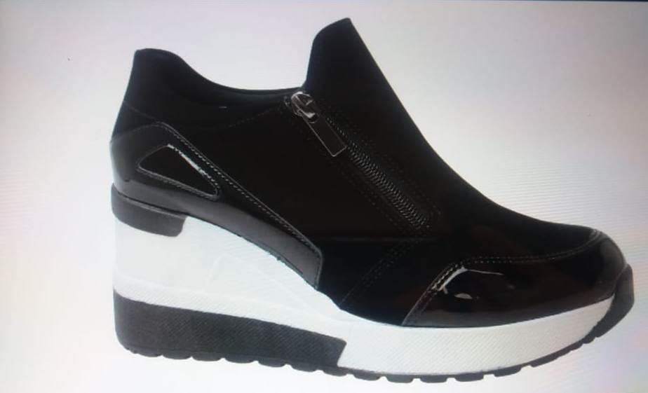 af728989bc0 Tênis Ugly Sneaker Ziper Fem Quiz Anabela Ref 68-37923 Preto - R ...