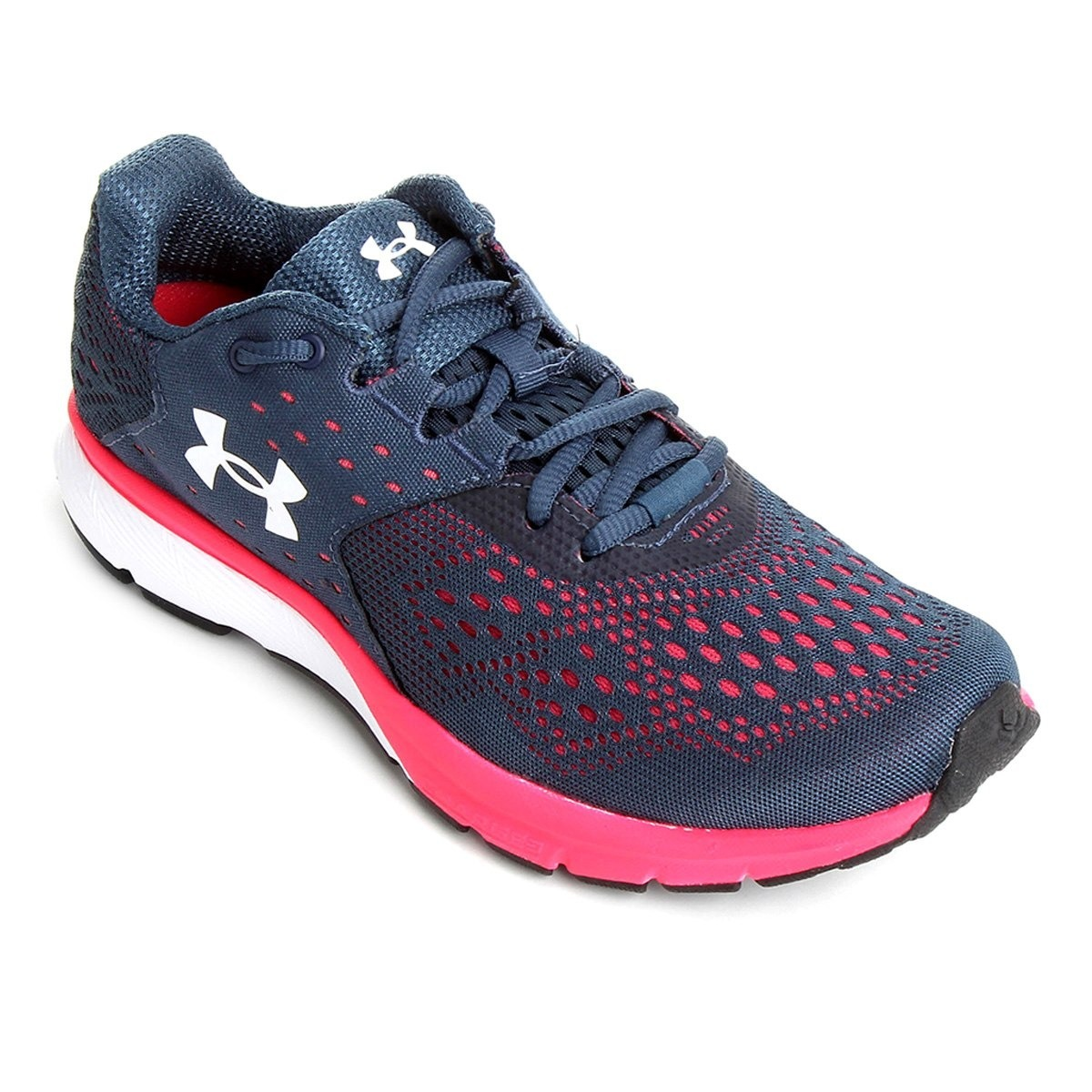d3ae6f7613 tênis under armour charged rebel sa feminino - azul e rosa. Carregando zoom.